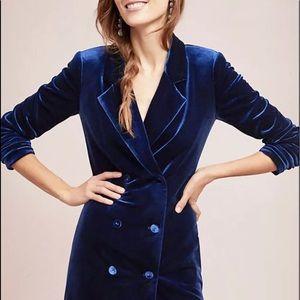 Yumi Kim Blazer Velvet Dress Double Breast XS